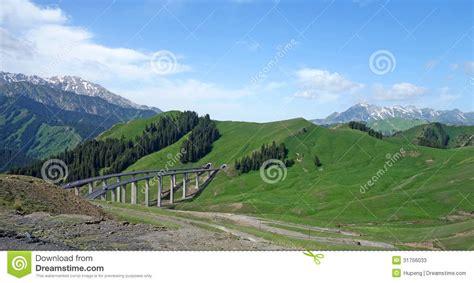 Beautiful Express Way Landscape Stock Photo