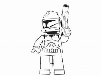 Lego Wars Coloring Stormtrooper Ninjago Desenhos Saga
