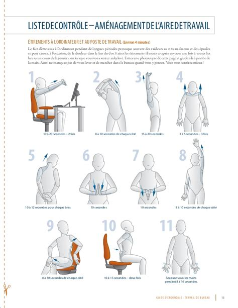 si鑒e repose genoux guide d ergonomie pour le travail de bureau