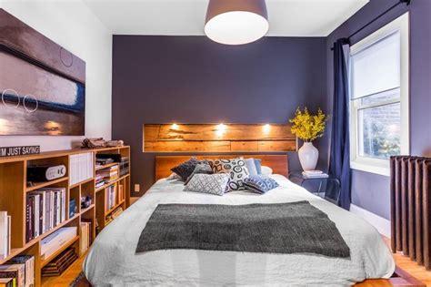 fabriquer une chambre en la photo du jour une niche en bois comme tête de lit