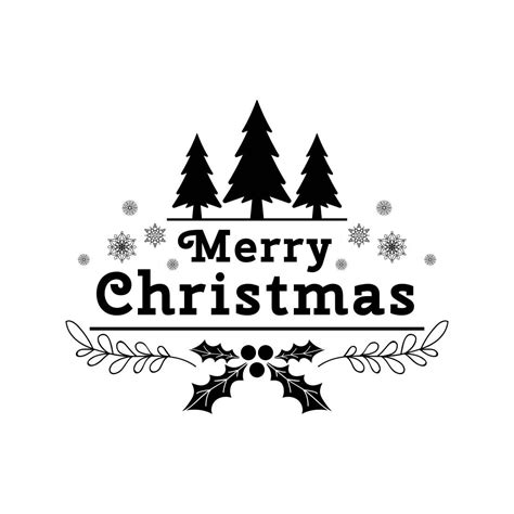 merry christmas tree snowflakes graphics svg dxf eps png cdr ai pdf vector art clipart instant