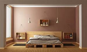 Comment Faire Un Lit En Palette : lit en palettes 25 id es 10 conseils pour le fabriquer moindre co t ~ Nature-et-papiers.com Idées de Décoration