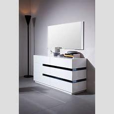 Modrest Polar  Contemporary White Gloss Dresser