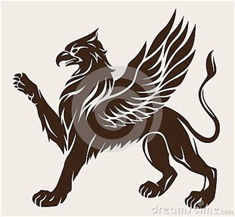 griffin tattoo stock image image