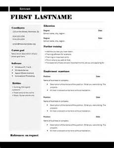 resume format microsoft word file free cv templates 289 to 295 freecvtemplate org