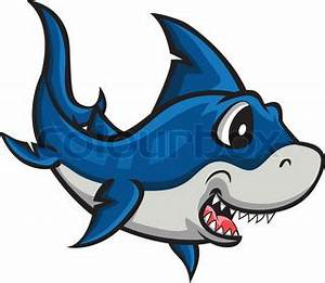 Vector illustration of angry shark cartoon | Vector ...