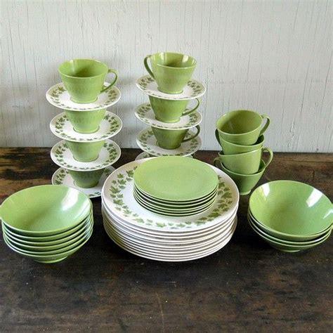 vintage melmac dinnerware set lenox ware  piece