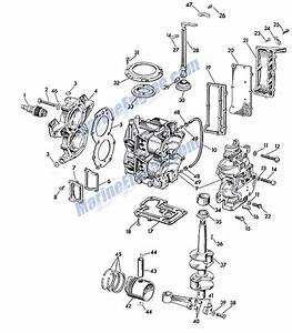 Powerhead Group Parts For 1958 7 5hp Ad