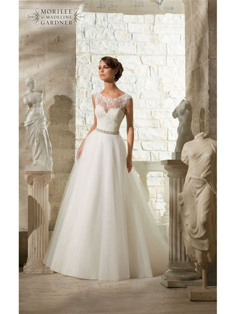 Mori Lee 5315 Venice Lace Top Tulle Skirt Ball Style