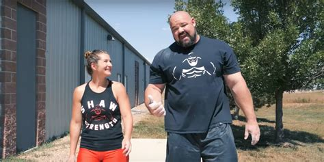 strongman brian shaw     wife   workout