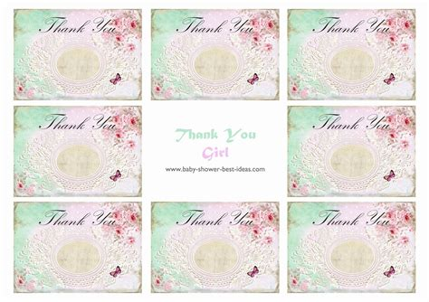 card template baby shower