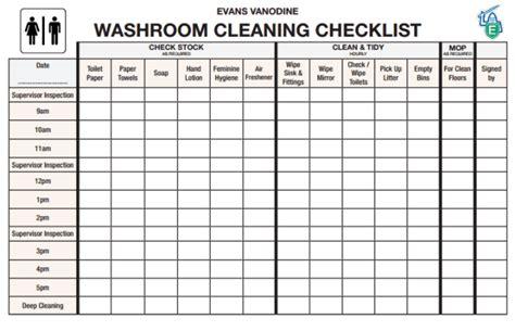 toilet checklists word excel templates