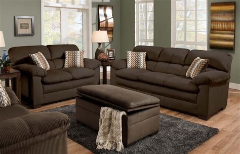 oversized sofa and loveseat dark brown suede sofa and loveseat combined with ottoman