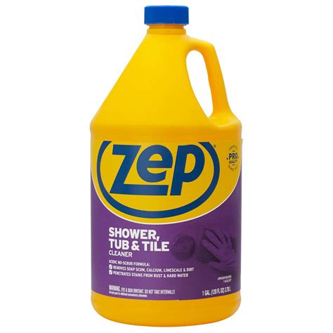 Best Cleaning Liquid For Bathroom Tiles by Zep 1 Gal Shower Tub And Tile Cleaner Zustt128 The Home