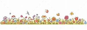 GraphicRiver Horizontal Cartoon Flower Border 10389076 | # ...