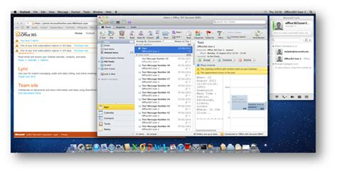 Office 365 Outlook On Mac by Office 365 With Mac Os X Microsoft Office 2011 And