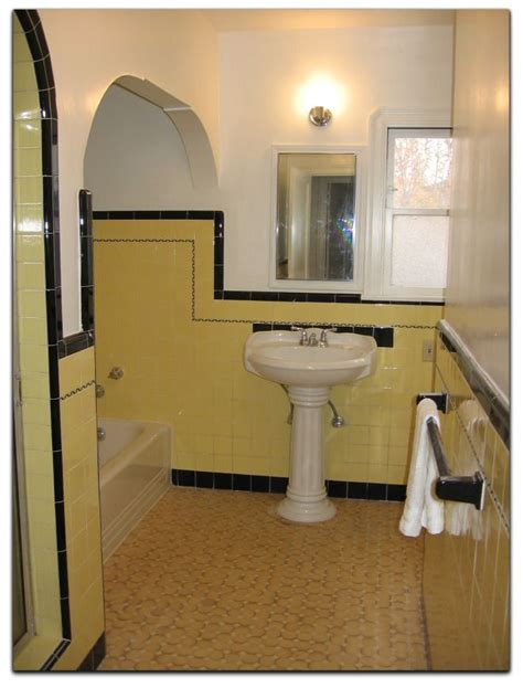 1930s bathroom ideas classic bathroom in yellow and black 1940 s bungalow
