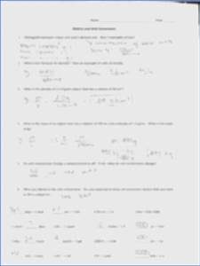 Dimensional Analysis Worksheet Answers