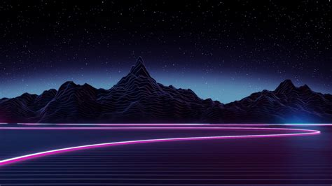 Neon Highway Digital Art 4k Ultrahd Wallpaper