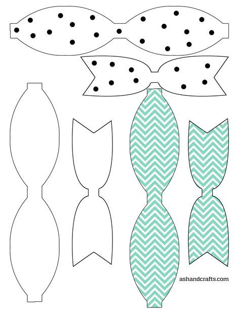Bow Template Freebie Friday Printable Paper Bows Ash And Crafts