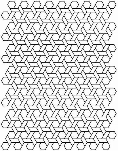 Coloring Cool Geometric Designs Printable Infinite Pages