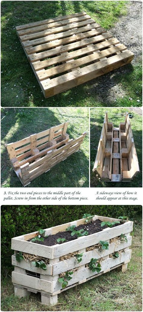 how to make a better strawberry pallet planter could