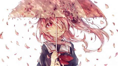 School Uniforms Girls Students Umbrellas Petals Cute