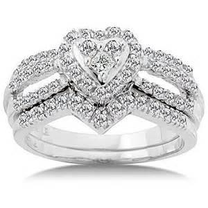 walmart wedding ring sets 3 4 carat bridal set size 7 walmart