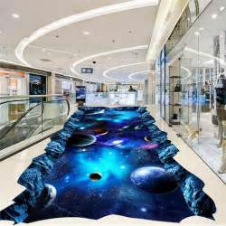 details  galaxy universe painting  floor mural