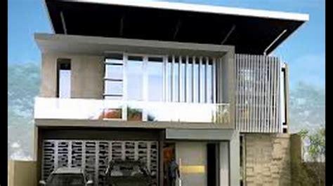 desain rumah minimalis  atap datar youtube