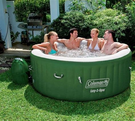 tub coleman coleman outdoor relax lay z spa portable pool yard