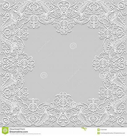 Lace Paper Frame Floral Royalty Vector