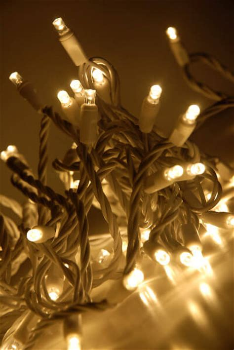 led string lights 70ct white wire warm white 23ft