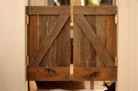 spun saloon doors  reclaimed barn wood reclaimed