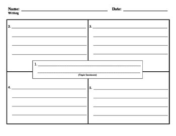 four square writing template 4 square writing template 02 by goudreau tpt
