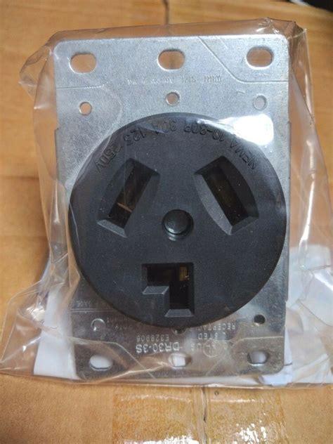 Dryer Outlet Receptacle Black Wire Flush