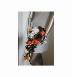Bouquet De La Mariée : bouquet mariage cascade th me chocolat orange avec roses ~ Melissatoandfro.com Idées de Décoration