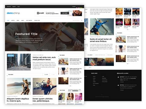 news social website home page layout part