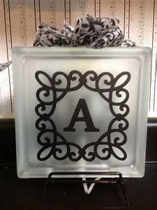 17 best images about vinyl ideas glass block on pinterest With vinyl lettering for glass crafts