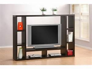Meuble Tv Bois Foncé : mod les de meuble tv en bois ~ Teatrodelosmanantiales.com Idées de Décoration