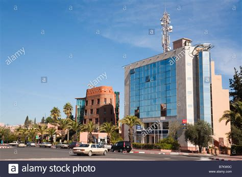 Marrakech Morocco North Africa Bmce Bank In Modern Glass