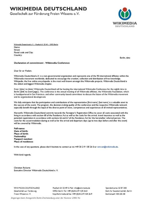 Wikimania/Letter of invitation - Meta