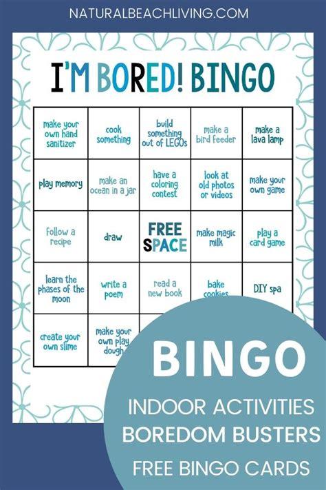 Indoor Activities Bingo 25 Boredom Busters for Kids