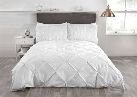 Bed Linens : Luxury Duvet Quilt Bedding Bed Set And Pillowcases Pintuck