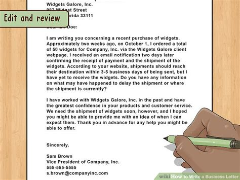 the best way to write and format a business letter wikihow