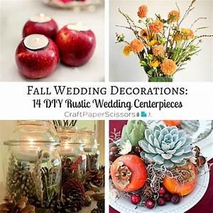 Fall Wedding Decorations: 14 DIY Rustic Wedding