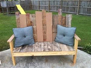 15 diy outdoor pallet bench pallet furniture plans With homemade outdoor furniture plans