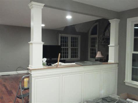 half wall ideas half wall complete kitchen dining room ideas pinterest