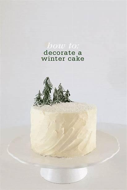 Cake Winter Decorate Buttercream Chocolate Decorating Simple