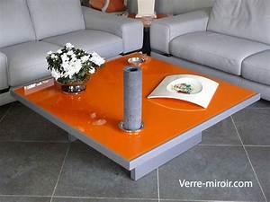 Verre Pour Table : verre pour protection table table de lit a roulettes ~ Teatrodelosmanantiales.com Idées de Décoration